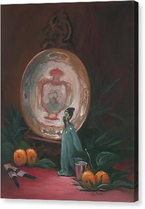 Oriental Plate Canvas Print by Liz Rose