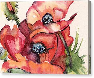 Oriental Poppies Canvas Print