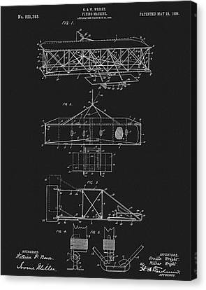 Original 1906 Wright Brothers Full Patent Canvas Print by Dan Sproul