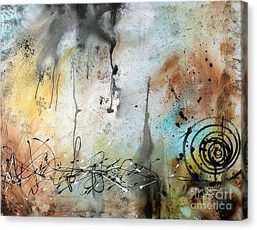 Original Abstract Acrylic Painting On Canvas Desert Surroundings By Megan Duncanson Canvas Print