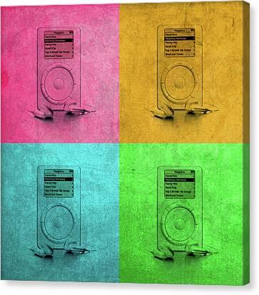 Ipod Canvas Print - Original Apple Ipod Vintage Pop Art by Design Turnpike