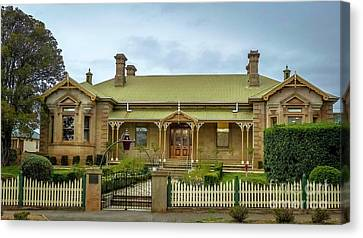 Original Campbell Town Hospital Tasmania Canvas Print by Teresa A and Preston S Cole Photography