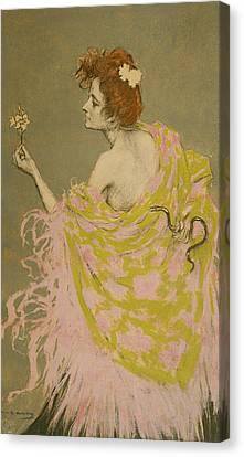 Original Design For The Poster Sifilis Canvas Print by Ramon Casas
