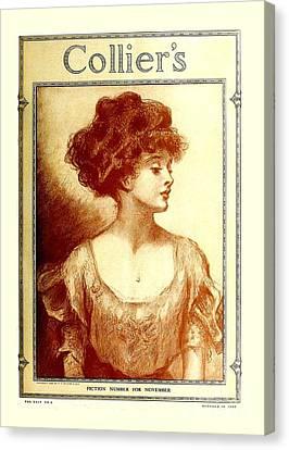 Original Gibson Girl  Canvas Print by Heidi De Leeuw