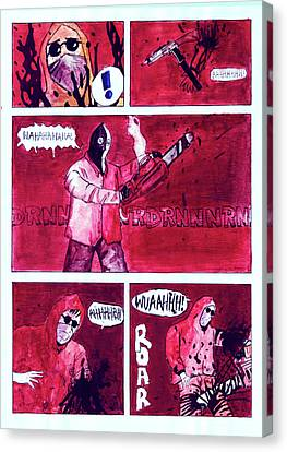 Original Handcoloured Copie Jjr Comic From 1995 Canvas Print by Joerg Federmann Typhoonart