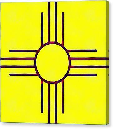 Original New Mexico Zia Flag Canvas Print