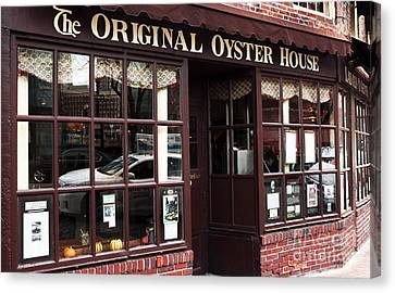 Original Oyster House Canvas Print by John Rizzuto