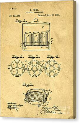 Original Patent For Canning Jars Canvas Print
