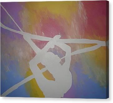 Original Rhythmic Gymnast 5 Canvas Print by H George Vandeveer