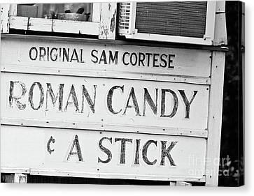 Canvas Print - Original Roman Candy - Bw by Scott Pellegrin