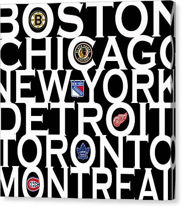 Original Six Canvas Print