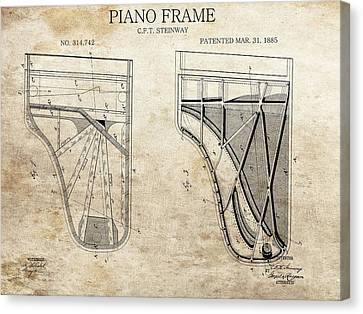 Original Steinway Piano Frame Patent Canvas Print by Dan Sproul