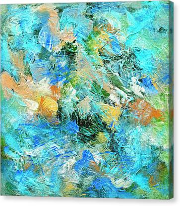 Canvas Print featuring the painting Orinoco by Dominic Piperata
