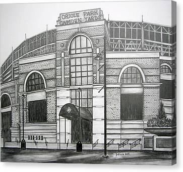 Oriole Park Camden Yards Canvas Print by Juliana Dube