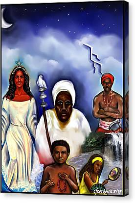 Orishas Canvas Print by Carmen Cordova