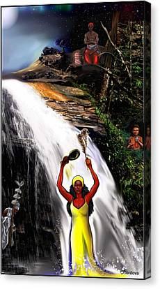 Orishas- Oshun, Obatala, Chango, Elegua Canvas Print by Carmen Cordova