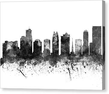 Orlando Florida Cityscape 02bw Canvas Print by Aged Pixel