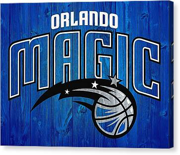 Orlando Magic Graphic Barn Door Canvas Print by Dan Sproul