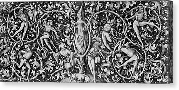 Ornament With Morris Dancers Canvas Print