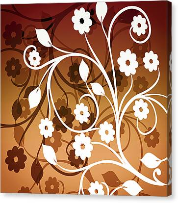 Canvas Print featuring the digital art Ornamental 2 Warm by Angelina Vick