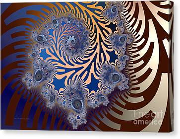 Canvas Print featuring the digital art Ornamental by Karin Kuhlmann