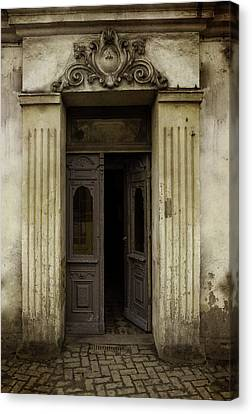 Ornamented Gate In Dark Brown Color Canvas Print