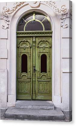 Architectur Canvas Print - Ornamented Gates In Olive Colors by Jaroslaw Blaminsky