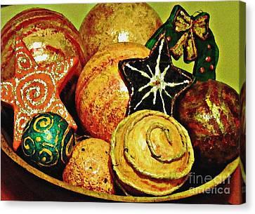 Ornaments Canvas Print by Sarah Loft