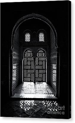 Ornate Alhambra Window Canvas Print by Jane Rix