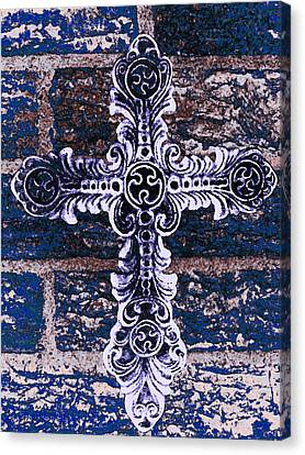 Ornate Cross 2 Canvas Print by Angelina Vick