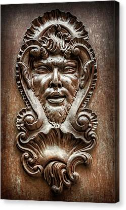 Ornate Door Knocker In Valencia  Canvas Print by Carol Japp