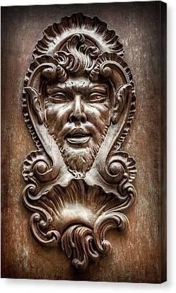 Ornate Door Knocker In Valencia  Canvas Print