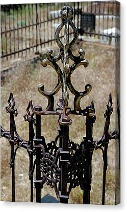 Ornate Iron Works Virginia City Nv Canvas Print by LeeAnn McLaneGoetz McLaneGoetzStudioLLCcom
