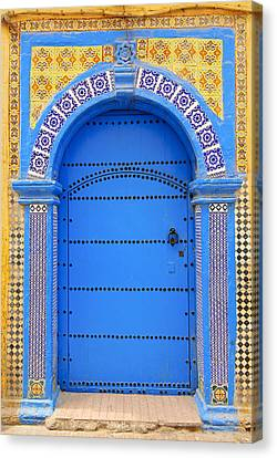 Ornate Moroccan Doorway, Essaouira, Morocco, Middle East, North Africa, Africa Canvas Print by Andrea Thompson Photography