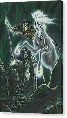 Orome Hunts The Creatures Of Morgoth Canvas Print by Kip Rasmussen