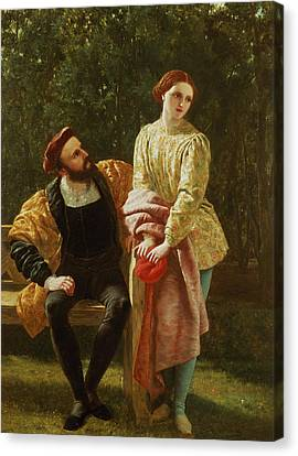 Orsino And Viola Canvas Print by Frederick Richard Pickersgill
