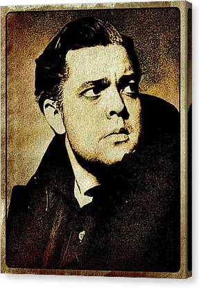 Orson Welles Vintage Hollywood Actor Canvas Print by Esoterica Art Agency
