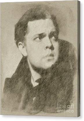 Hepburn Canvas Print - Orson Welles Vintage Hollywood Actor by Frank Falcon
