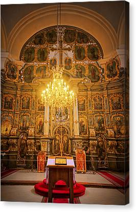 Orthodox Cathedral Hungary Canvas Print by Joan Carroll
