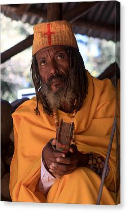 Orthodox Christian Priest , Lake Tana, Ethiopia Canvas Print by Aidan Moran