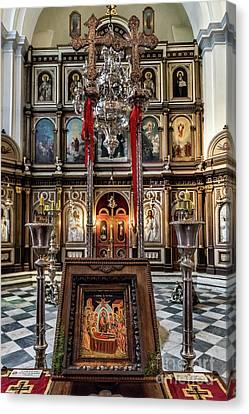 Orthodox Church Of St. Nicholas Canvas Print by John Greim