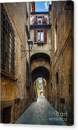Orvieto Alley Canvas Print