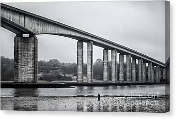 Shoreline Old Men Canvas Print - Orwell Bridge by Svetlana Sewell