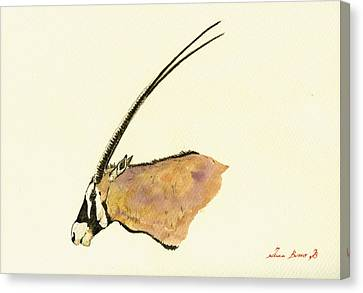 Oryx Canvas Print by Juan  Bosco