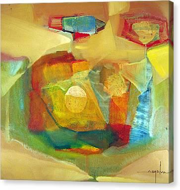 Os1959bo003 Abstract Landscape Potosi 17.75x16.5 Canvas Print by Alfredo Da Silva