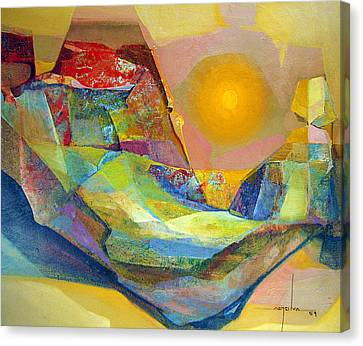 Os1959bo005 Abstract Landscape Potosi 22.75x18.5 Canvas Print by Alfredo Da Silva