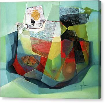 Os1976ar001ba Cosmic Shapes  25x29.5 Canvas Print by Alfredo Da Silva