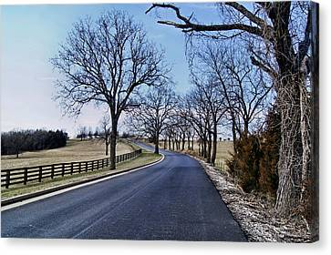 Osage County Road Canvas Print by Cricket Hackmann
