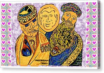 Osama Bin Laden Dick Chenny And George Bush Era Cartoons By Navinjoshi Canvas Print by Navin Joshi