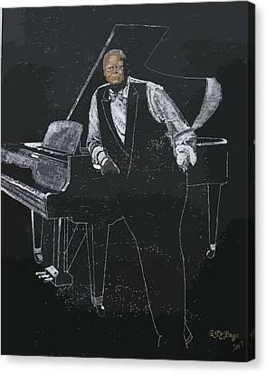 Oscar Peterson Canvas Print